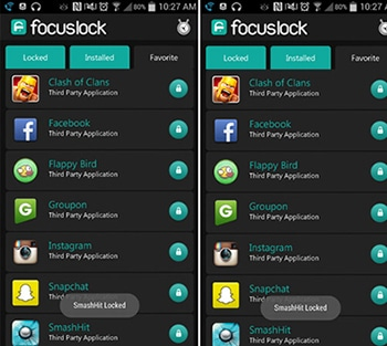 Focus Lock-Android Apps To Block Access To Apps For Specific Time