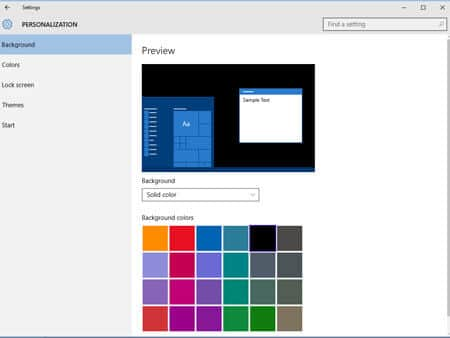 How to Personalize Windows 10- Background-color