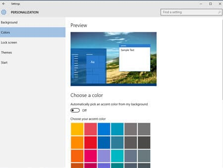 How to Personalize Windows 10- Colors