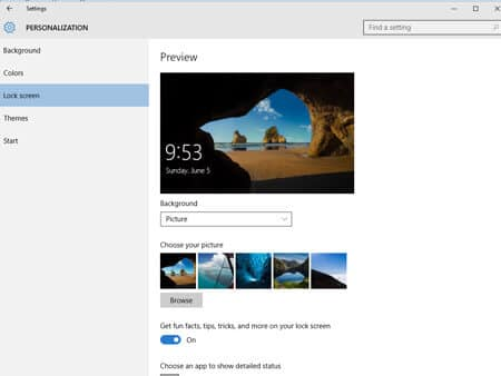 How to Personalize Windows 10- Lock Screen