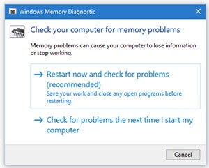 Windows Memory Diagnostic tool-2- Test For RAM Problem