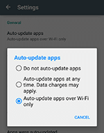 autoupdate on WiFi ony _to reduce mobile data
