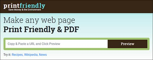 Print Friendly- Print Web Pages Without Ads