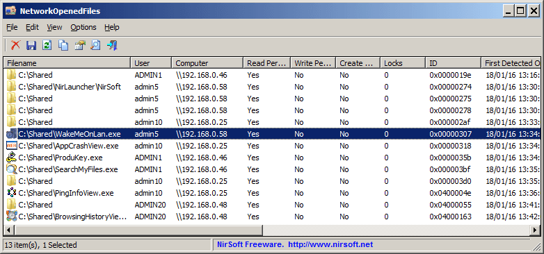 NetworkOpenedFiles-NirSoft-Utilities