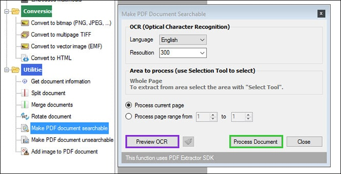 PDF searchable- ByteScout PDF MULTITOOL
