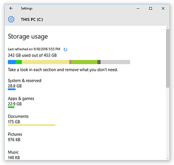 which-apps-and-files-are-using-the-most-disk-space-windows-10-useful-features-settings