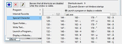 clavier-shortcut-for-special-character