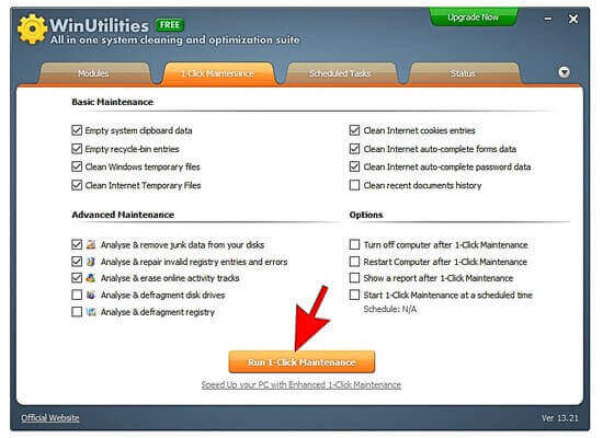 2 -WinUtilities 1 Click Maintenance16