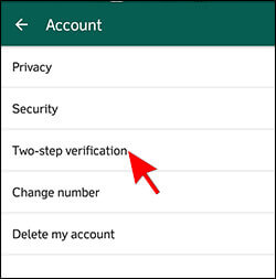 1- Two Step Verification in WhatsApp