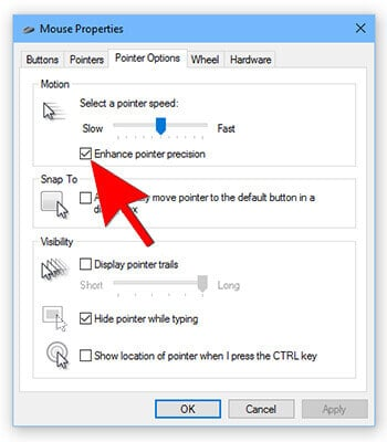5- Mouse Tricks In Hindi -Enhanced Pointer Precision