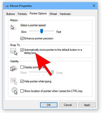 6- Mouse Tricks In Hindi -Automatically Move Pointer to the Default Button