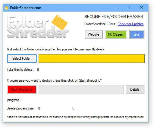3-FolderShredder-permanently delete files from Windows