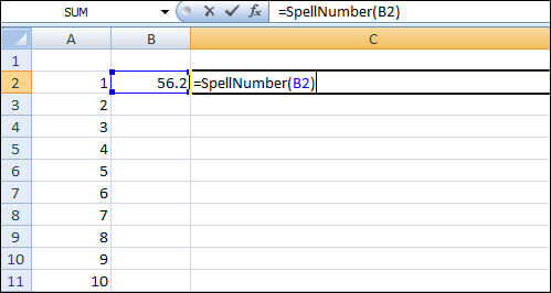 4- Convert Numbers Currency To Words In Excel
