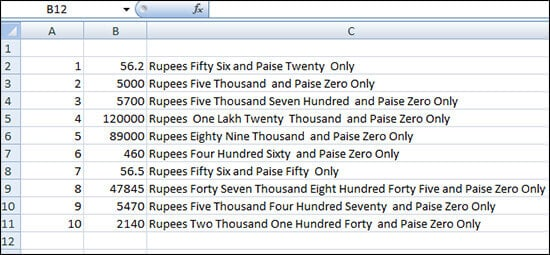 5- Convert Numbers Currency To Words In Excel