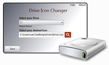 2-Drive Icon Changer-Change Windows Drive Icons In Hindi