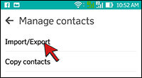 2- Transfer contacts- Things You Should Do Before Selling Your Android Phone