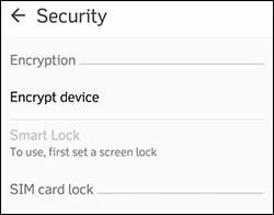 8 - Encrypt Data - Things You Should Do Before Selling Your Android Phone