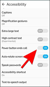 9-End A Call With The Power Button - Hidden Android Features