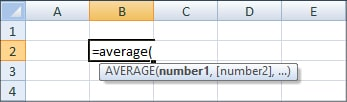 Average function - Excel Formula