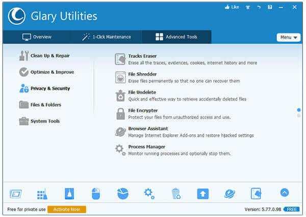 6-Glary Utilities- Privacy and Security