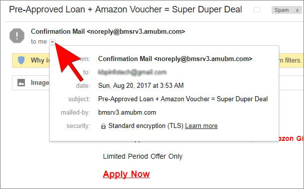 Check Fake Spam Spoofed email Hindi
