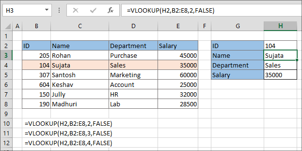 3-Excel VLOOKUP Fuction in Hindi