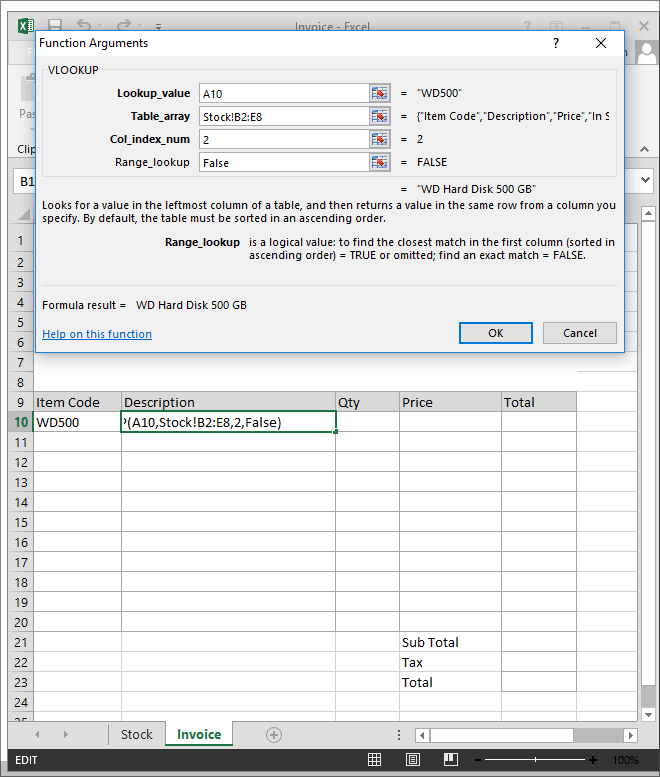 9-Example of Excel VLOOKUP Fuction in Hindi