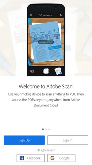Adobe Scan Android App Hindi