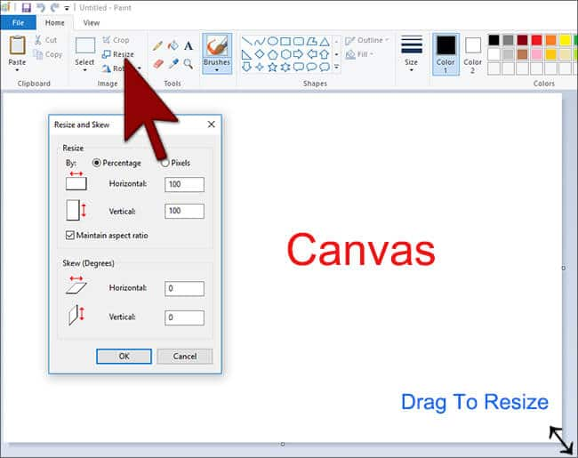 Canvas- MS Paint in Hindi