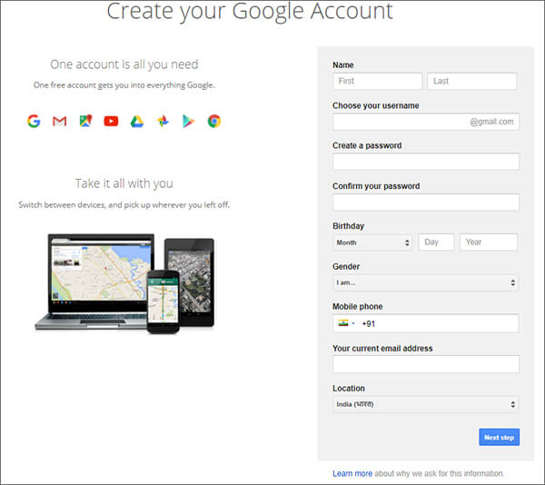 Gmail- Create New Email Account In Hindi
