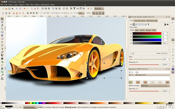 Inkscape Vector graphics editor in Hindi