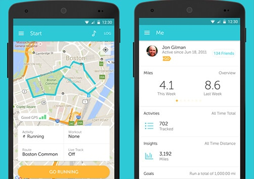 1-RunKeeper - Best Android Health And Fitness Apps Hindi