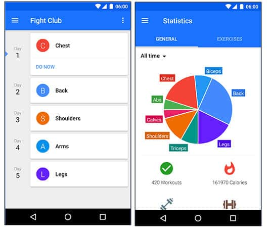 Progression Workout Tracker - Best Android Health And Fitness Apps Hindi