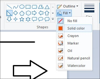 Shapes color - MS Paint in Hindi