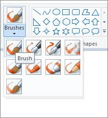 Brush Tool - MS Paint in Hindi