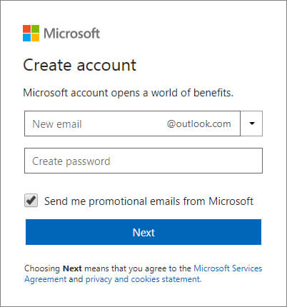 2-Outlook - Create New Email Account In Hindi