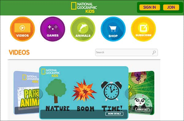 National Geographic Kids- Video Websites for Kids Hindi