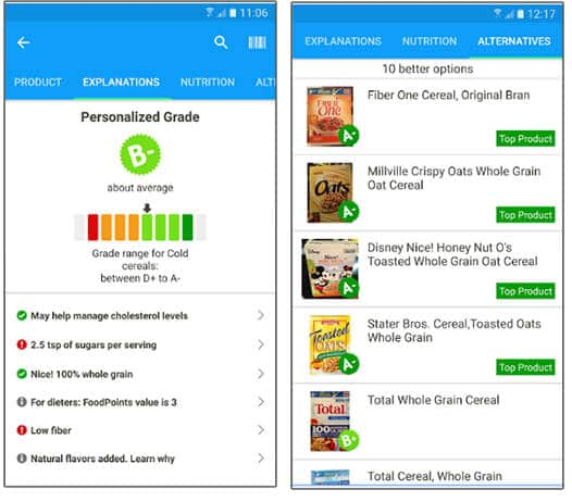 Fooducate- Best Android Health And Fitness Apps Hindi