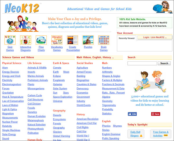 neoK12- Video Websites for Kids Hindi