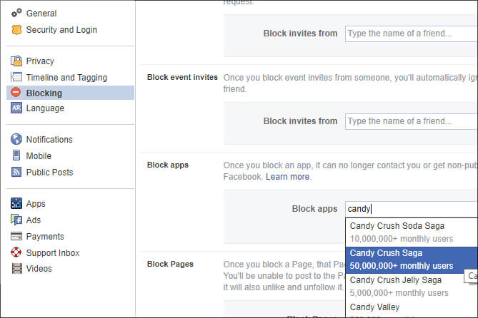 Turn off Candy Crush request -Facebook Tips Tricks in Hindi