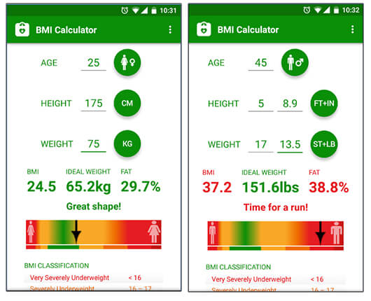 BMI Calculator - Best Android Health And Fitness Apps Hindi