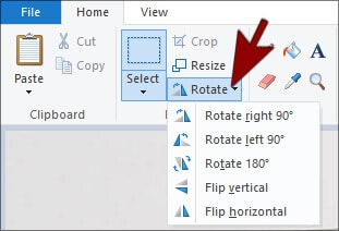 Rotate - MS Paint in Hindi