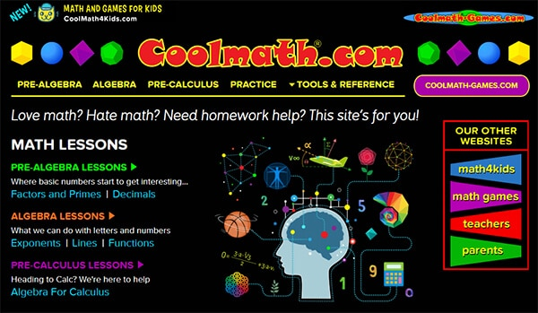 CoolMath - Video Websites for Kids Hindi