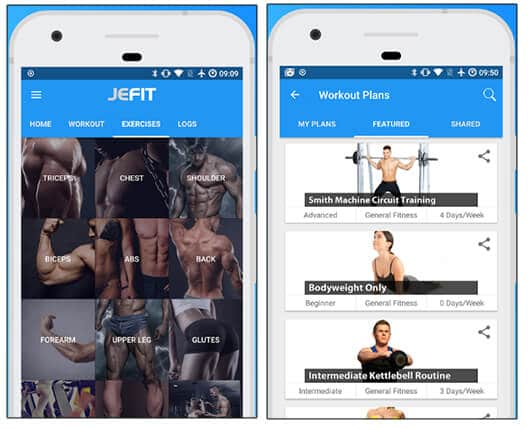 JEFIT - Best Android Health And Fitness Apps Hindi
