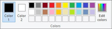 Color Palette - MS Paint in Hindi