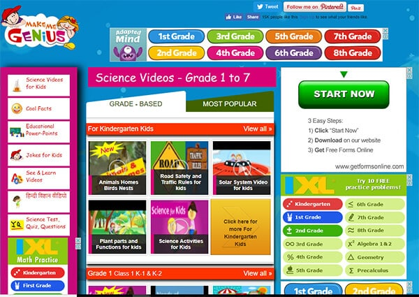 Make Me Genius - Video Websites for Kids Hindi