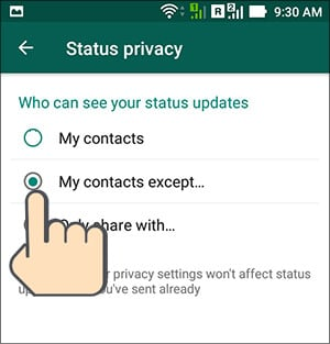 Hide WhatsApp Status Updates From Specific Contacts Hindi