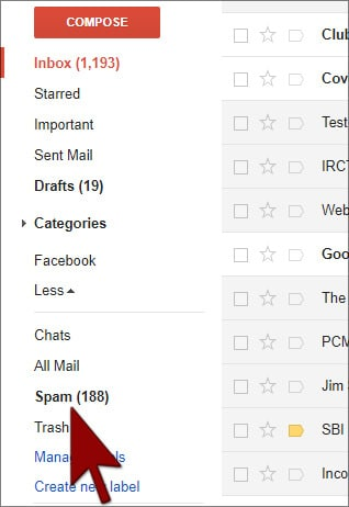 Spam Filtering-Gmail in Hindi