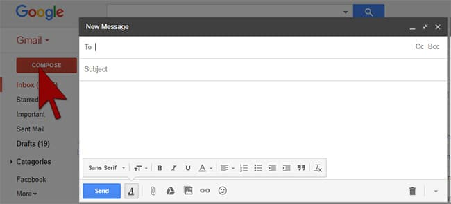 Compose mail -Gmail in Hindi