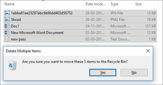 Delete - Recycle Bin in Hindi